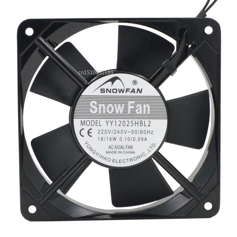 FOR YY12025HBL2 AC 220V 120*120*25 Double Ball Bearing Cooling Fan Free Shipping