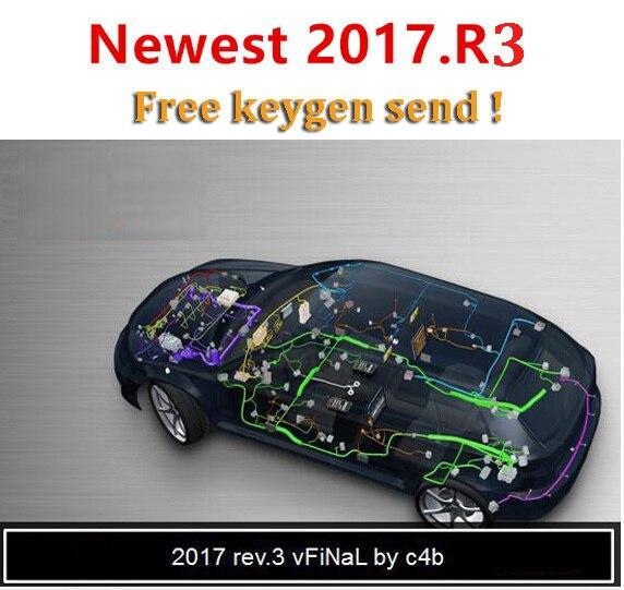 2020 new!! 2017.3と車のトラック2016.0送料keygen dvd cdソフトウェアdelphis multidiag vdためtcs obd2修復ツール