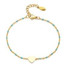 ZMZY Fashion Minimalist Cute Heart Charm Bracelet Female Accessories Stainless Steel Bracelet Hand Chain Jewelry Women