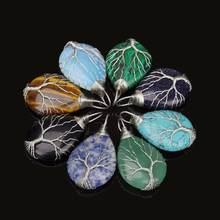 Серебряное ожерелье с подвеской в виде дерева жизни подвеска