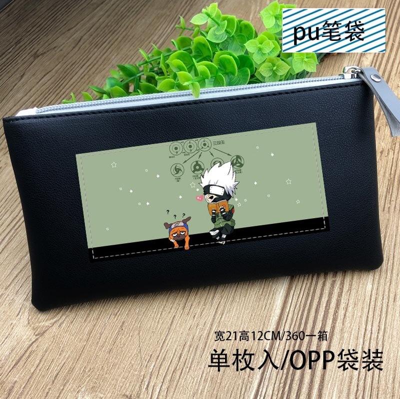 Anime NARUTO Hatake Kakashi Cosplay PU Leather Purse Wallet Pencil Case Bag