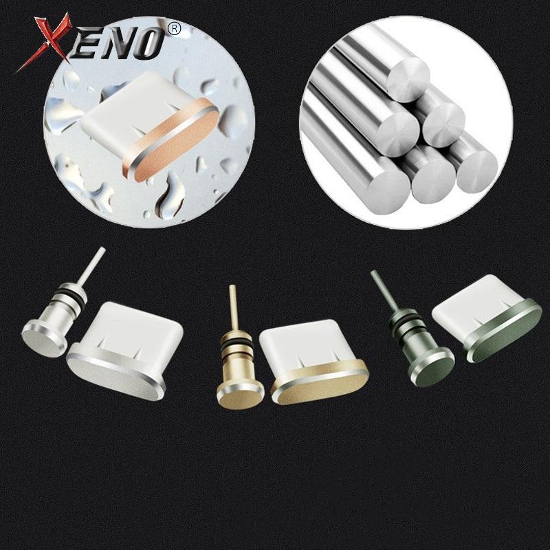 Metal Type-C Charging Port Dust Plug 3.5mm Earphone Port Dust Plug Replacement Type C Mobile Phone Accessories Type C Dust Plug