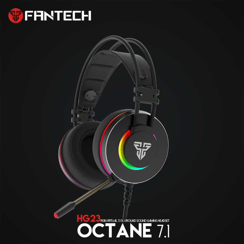 Fantech HG23 USB 7.1 Virtuelle Surround Sound Gaming Headset Kopfhörer mit Mikrofon Stereo Bass <font><b>Vibration</b></font> für PC PS4 Gamer image