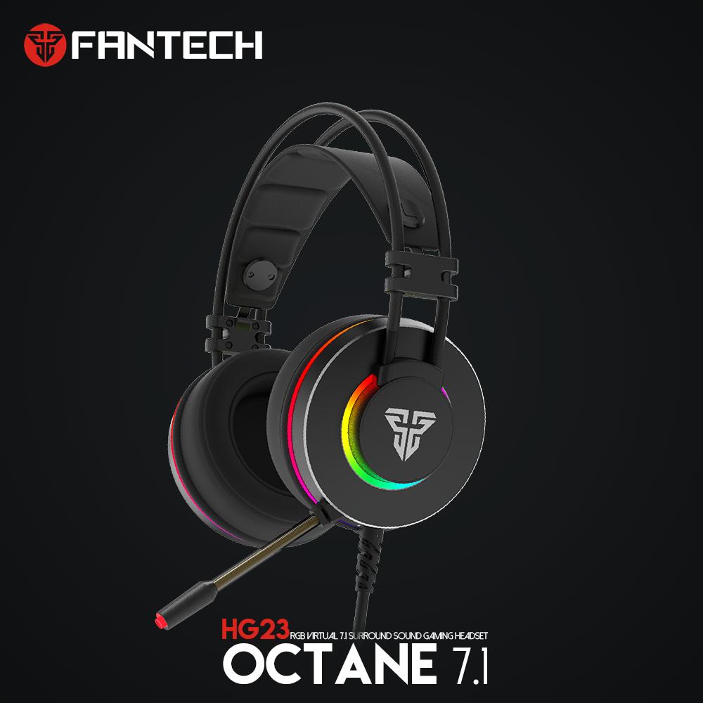 Fantech HG23 USB 7.1 son Surround virtuel casque de jeu casque avec Microphone stéréo basse Vibration pour PC PS4 Gamer
