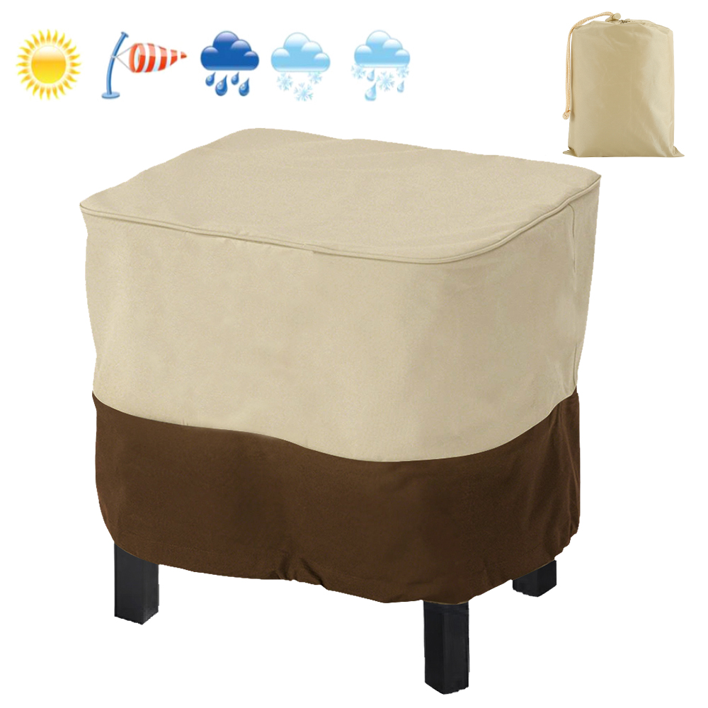 Patio Furniture Cover Outdoor Yard Garden Chair Cover Waterproof Dust Cover Sun Protection Oxford Cloth Foldable Drawstring
