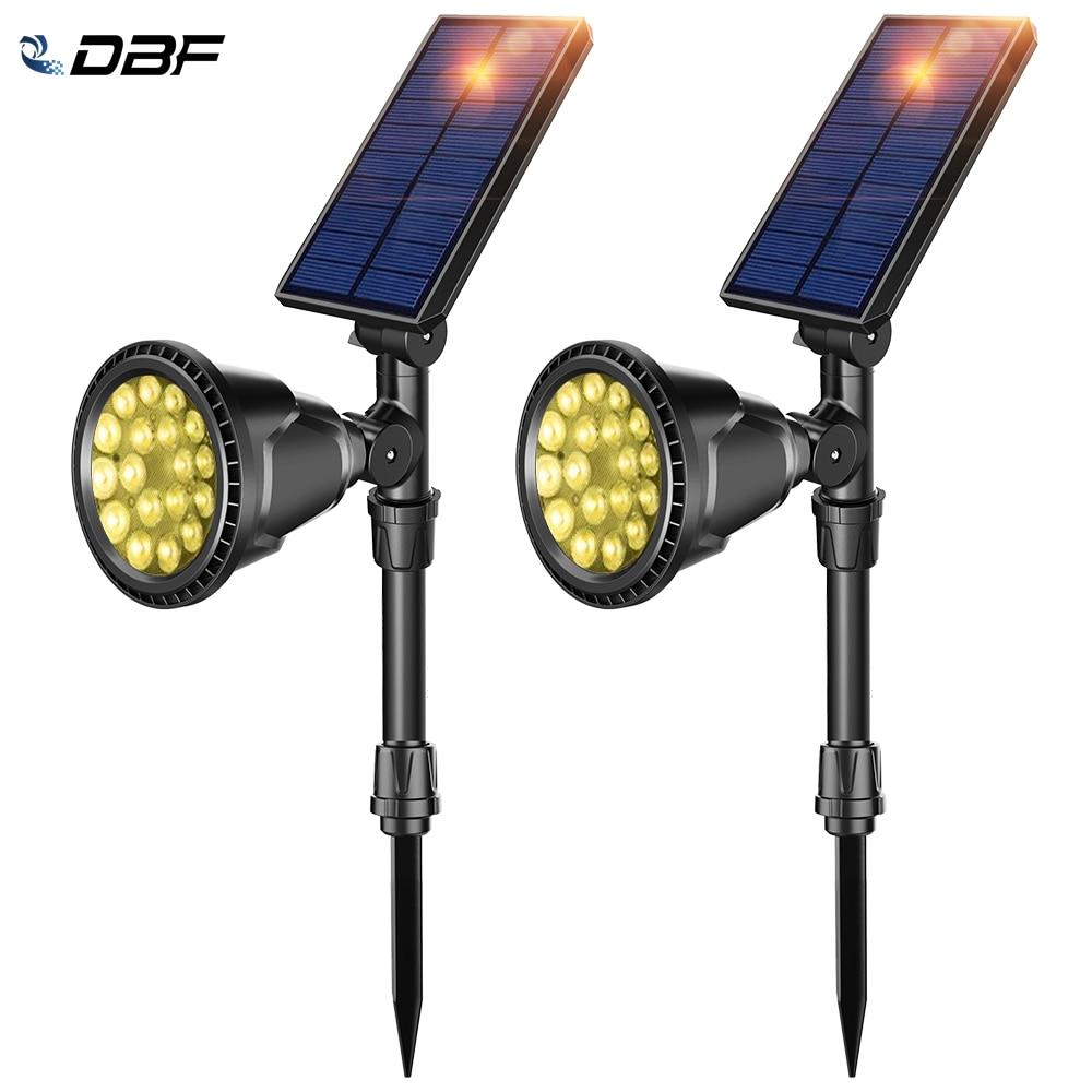 [DBF]1/2Pack LED Solar Landscape Lights,Super Bright 18 LED Security Light Waterproof 2-in-1 Outdoor Solar Spotlights for Garden