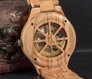 Image 5 - Relogio Masculino BOBO kuş ahşap İzle erkekler lüks marka otomatik kol saatleri Groomsmen hediye reloj hombre OEM Dropshipping