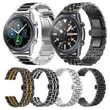 Correa de Metal para Samsung Galaxy Watch 3, 45mm, 41mm, correa de acero inoxidable