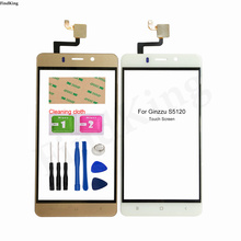 Mobile Touch Screen For Ginzzu S5120 Touch Screen Front Glass Digitizer Panel Glass Sensor TouchScreen Touchpad 3M Glue