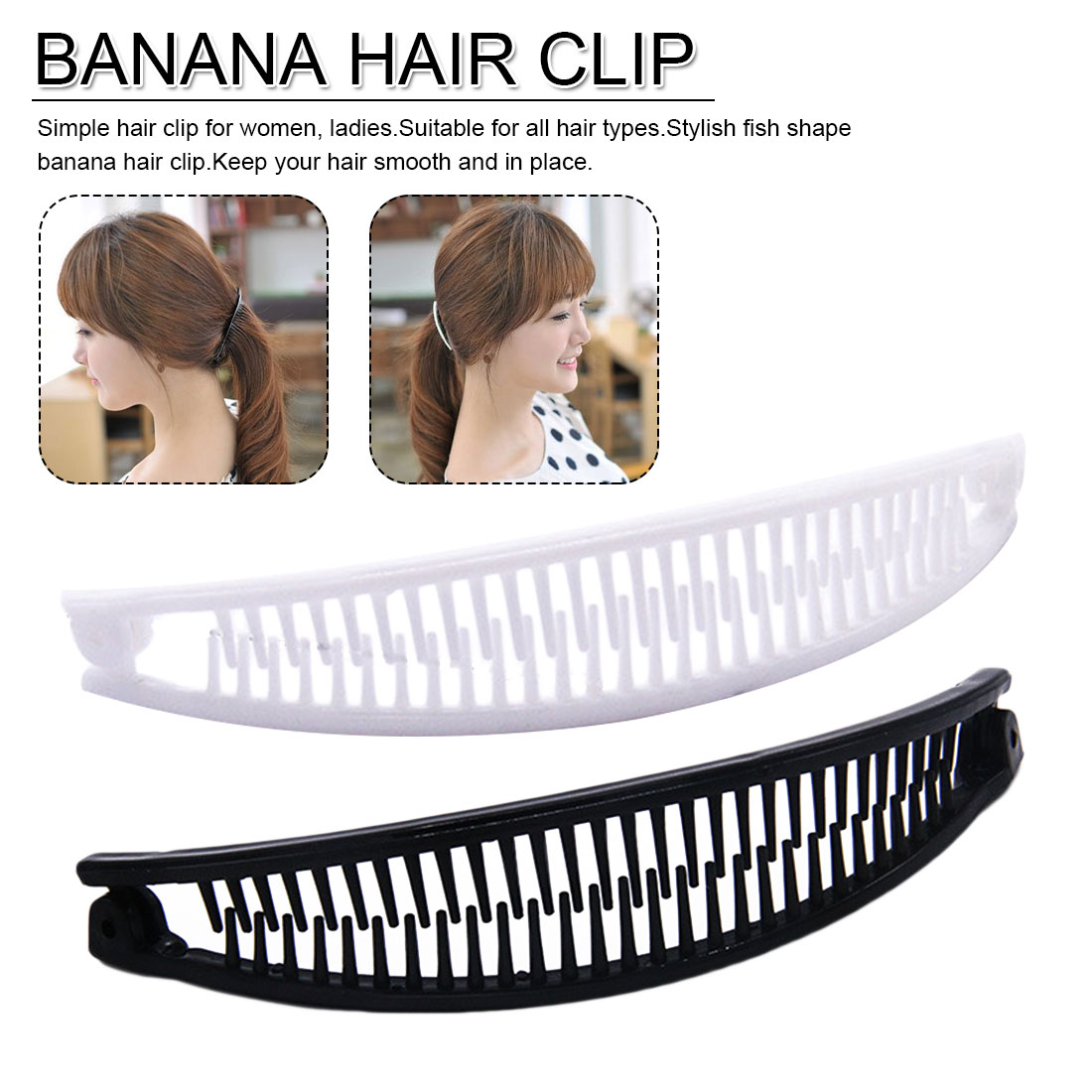 Black Or Brown 9cm Square Shaped Hair Claw Clip Clamp Hair Accessory