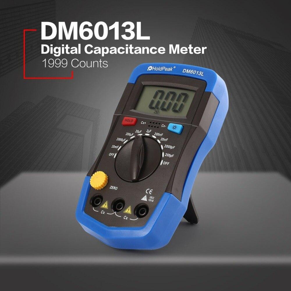 Электроника DM6013L измеритель емкости Eletronicos esr электронная техника Суперконденсатор тестер емкости цифровой измеритель