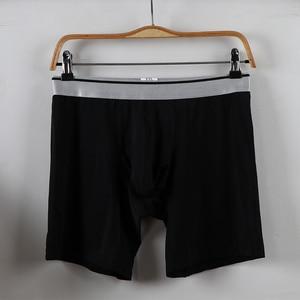 Image 3 - Shionf 2pcs Ultra Thin Mens underwear Ice Silk Cooling Boxer men Scrotum Support Anti Friction long leg 7XL Soft Panties