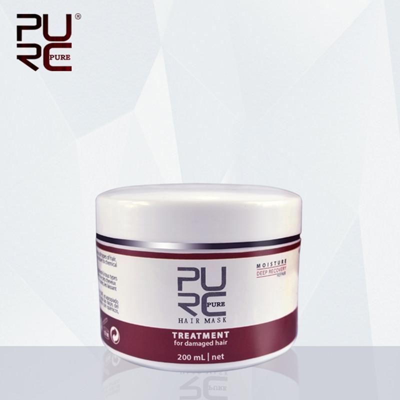PURC 200ml Deep Conditioner Restores Dry & Damaged Hair Moisturizing Anti Frizz Hair Mask Hair Masque Restoration Hair Care