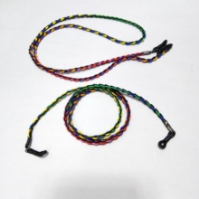 sunglass braided spectacle lanyard strings mixed with waxed cotton cords and PU leather