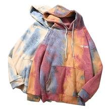 Tie Dye Women Hoodies Autumn Winter Warm Sweatshirt Female Hoodie Tops Fashion Printed Ladies Hooded Tops Streetwear Pullovers