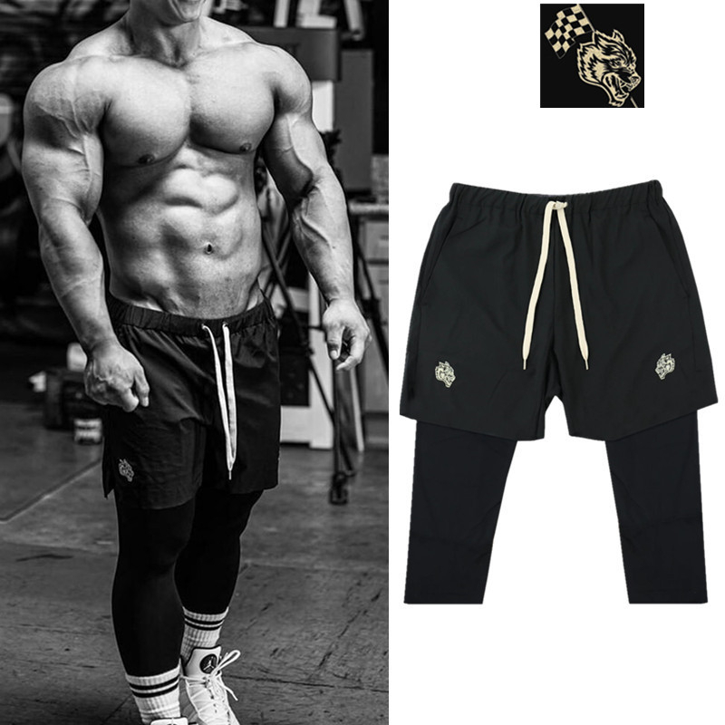 2020 Mens Running lightweight Quick Dry Pants 2 In 1 Sports Joggers Men Workout Jogging Pants Gym Sport Pants Fitness Trousers