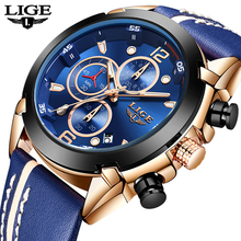LIGE men watch top brand luxury chronograph Quartz watch men Sport watches military army male wristwatch clock relogio masculino
