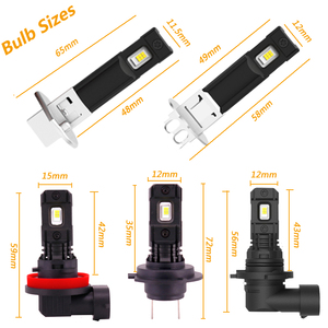 Image 2 - Projecteur de voiture Super brillant 12V 24V, ampoule H1 LED, lampe blanche pour journée de conduite