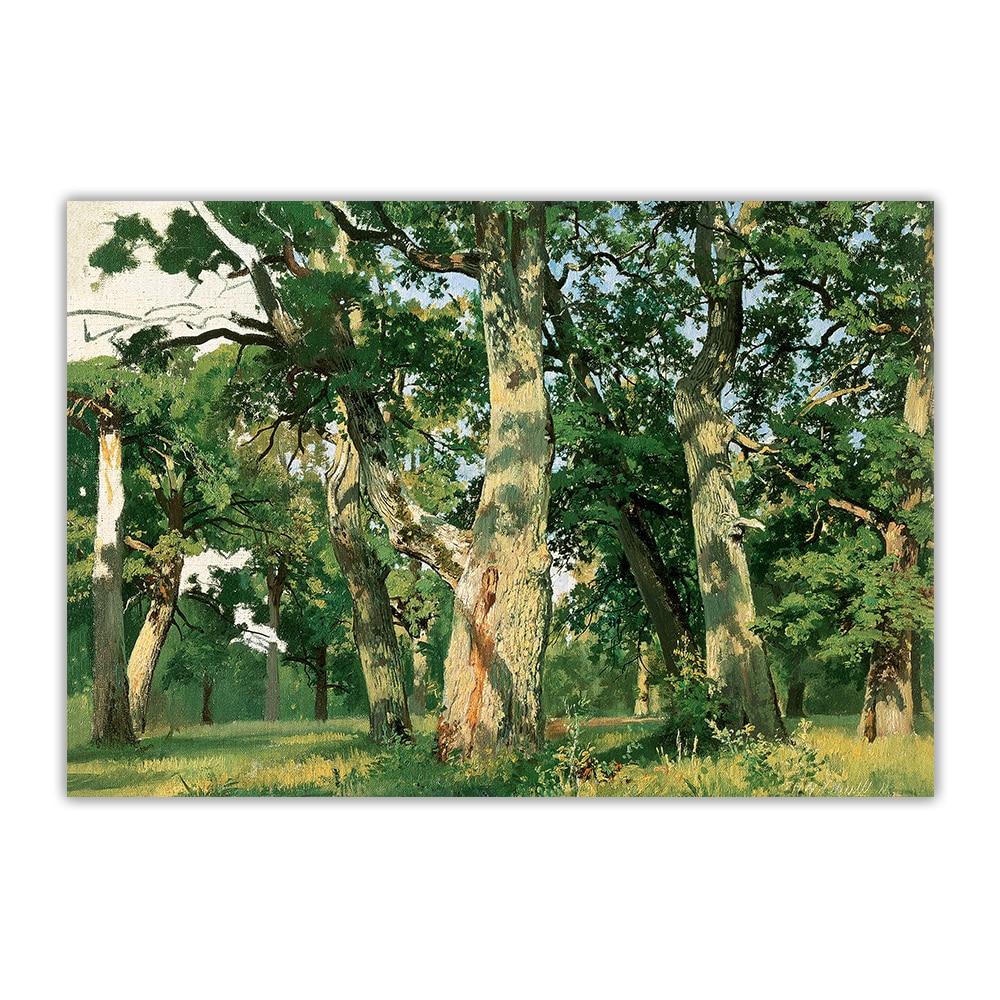 Купить цитон иван шишкин oaks дубы вечерний canvas холст искусство