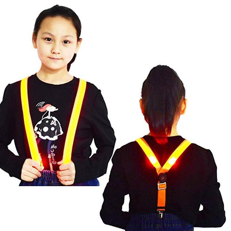 1 Pcs New Fashion LED Luminous Strap Luminous Suspender Pants Accessories Children Flashing Chest Strap