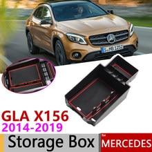 Para Mercedes Benz GLA X156 GLA180 GLA200 GLA220 GLA250 GLA45 200, 220 de 250 200d 220d AMG de apoyabrazos de almacenamiento de caja de accesorios de coche
