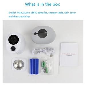 Image 5 - Wdskivi 100%, cámara IP sin cables con batería, cámara inalámbrica para exteriores, resistente al agua, seguridad WiFi, cámara de vigilancia CCTV, alarma inteligente