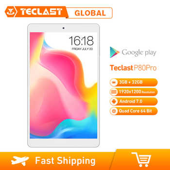 Teclast P80 Pro Upgraded Android 7.0 MTK8163 Quad Core 1.3GHz 3GB RAM 32GB ROM Tablet PC Dual WiFi /Cameras 1920*1200 GPS HDMI - DISCOUNT ITEM  22% OFF All Category