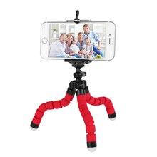 Гибкий держатель для телефона с губкой, штатив осьминог, выдвижной держатель для селфи, крепление для iPhone, Samsung, Gopro, держатель для камеры