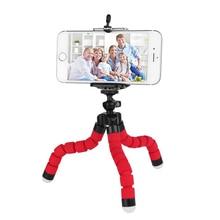 Tripé de polvo para celular, suporte flexível para celular, esponja, suporte para selfie, expansível, para iphone, samsung