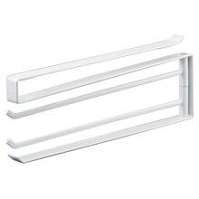 Swivel Towel Rail Bath Rack Holder with 2 Bars for Kitchen, Bathroom, Toilet