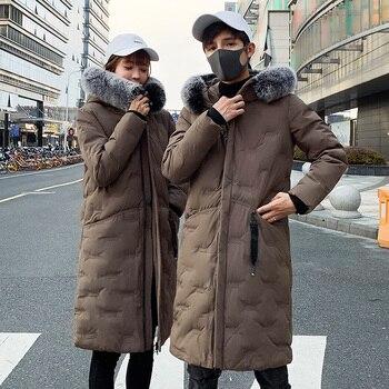 Winter Parka Men's Solid Jacket 2020 New Arrival Thick Warm Coat Long Hooded Jacket Fur Collar Windproof Padded Coat Fashion Men original new arrival official adidas men s windproof jacket hooded sportswear