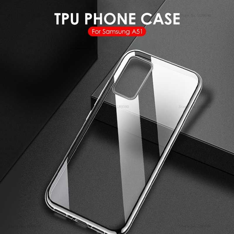 Voor Samsung Galaxy A51 Case Cover Ultra-Dunne Transparante Tpu Siliconen Telefoon Geval Voor Samsung Galaxy A51 A71 Een 51 71 2019 Cover
