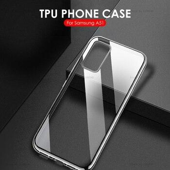 Перейти на Алиэкспресс и купить Чехол для Samsung Galaxy A51, ультратонкий прозрачный силиконовый чехол из ТПУ для Samsung Galaxy A51 A71 A 51 71 2019