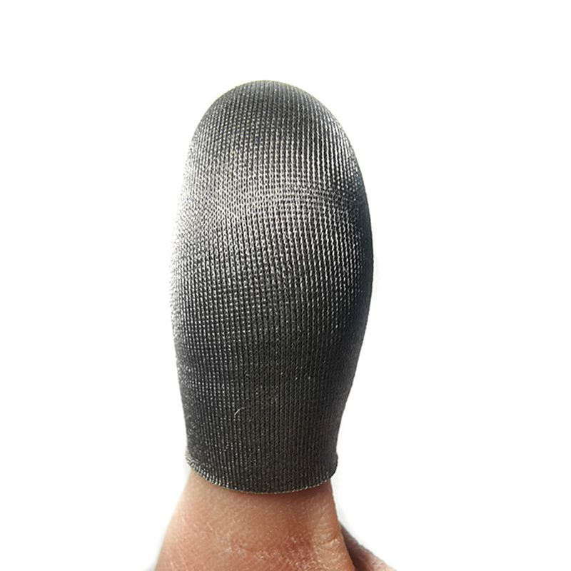 6/8/10pcs Touches Screen Silver Fiber Finger Sleeve Sweat-proof Ultra-thin Breathable Finger Cap