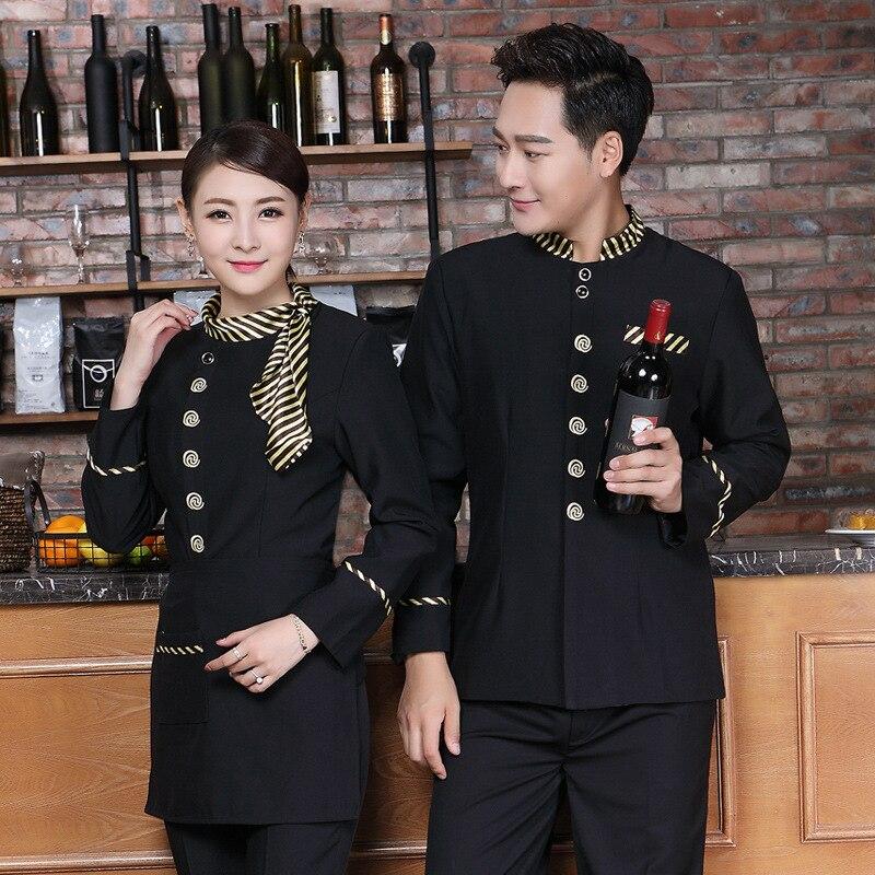 Официант китайского ресторана Униформа отель еда обслуживание Униформа официантки кафе персонал рабочая одежда фаст-фуд чистка одежда