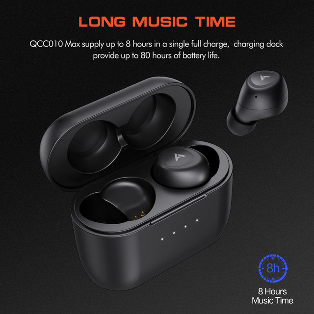 Anomoibuds QCC010 Max Aptx Touch Key Wirless Earphone Bluetooth Headphones Wired Earphones Noise Cancellation with Microphones 5