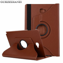 GUKEEDIANZI Cover For Samsung GALAXY Tab A A6 10.1 P580 P585 P580N Tablet Case 360 Degree Rotate Stand PU Leather Protector Case(China)