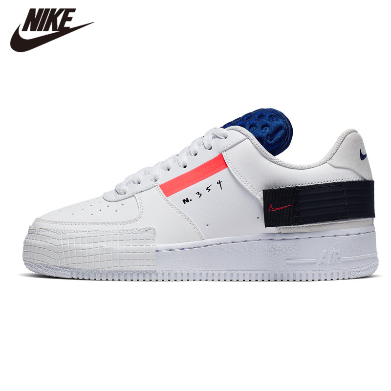 NIKE AF1-TYPE AIR FORCE 1 Laufschuhe Weiß Schwarz Neue Ankunft Sneaker