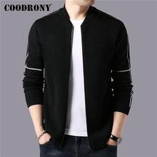COODRONY Brand Sweater Men Streetwear Fashion Zipper Coat 2019 Autumn Winter Thick Warm Cashmere Wool Cardigan 91102