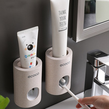 New Automatic Toothpaste Dispenser Dust-proof Toothbrush Holder Wall Mount Stand Bathroom Accessories Set Toothpaste Squeezer automatic toothpaste dispenser dust proof toothbrush holder wall mount stand bathroom accessories toothpaste squeezers tooth b4