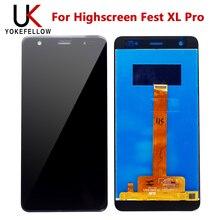 Highscreen Fest XL Pro LCD 디스플레이 디지타이저 스크린 용 오리지널 디스플레이 Highscreen Fest XL Pro LCD 용 어셈블리 완료
