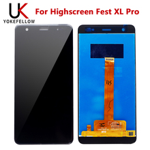 origial Display For Highscreen Fest XL Pro LCD Display Digitizer Screen Complete Assembly for Highscreen Fest XL Pro LCD