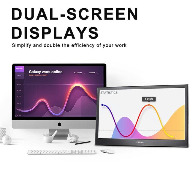 Portable Monitor hdmi touch screen 13.3 inch 2K PC PS4 Xbox 360 1080P IPS HD LCD LED Display for Raspberry Pi switch laptop 6