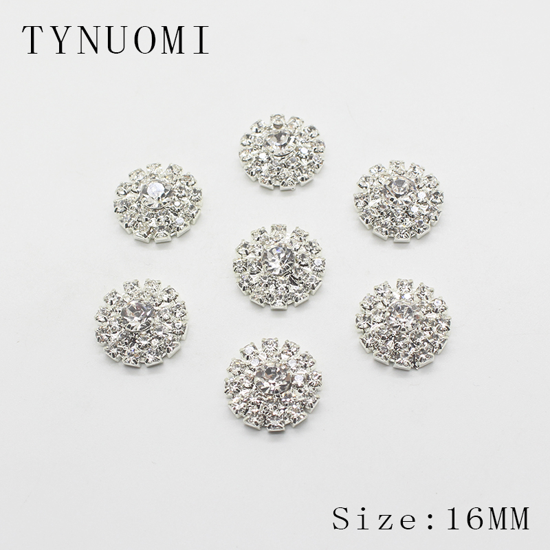 10pcs/set 16mm Round Rhinestone Buttons, Decorative Ornaments At The Floral Center Diy Craft Decoration Accessories