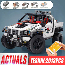Yeshin 18005 APP RC Technic voiture jouets compatibles argent phare hors route modèle Kits blocs de construction enfants cadeaux de noël