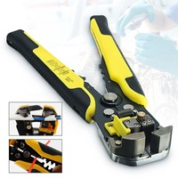 Cortador de descascador de fio automático alicate crimper friso terminal ferramenta mão corte descascamento fio multitool