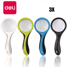Get more info on the Deli 4PCS Handheld Magnifying Glass About 3X Magnification Handheld HD Reading Amplifier Student Elderly with Portable