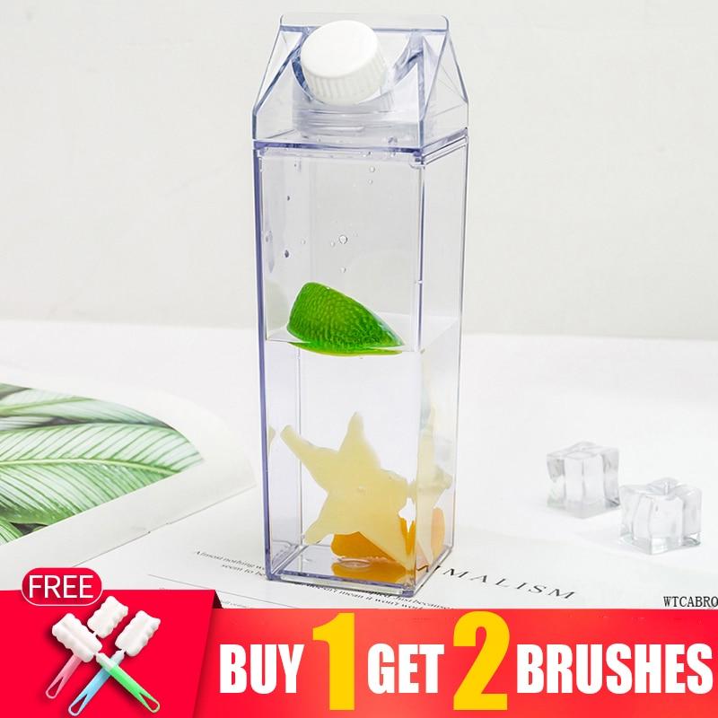 0.5L My Kitchen Items Flat Healthy School Water Bottles Sport Shaker Bike Fitness Coffe Creative Cup Christmas Water Bottle Jug