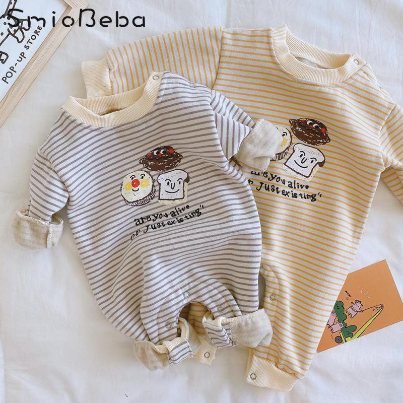 11.89US $ 15% OFF Baby Boy Romper Clothes 0 24M Extra Thick Cartoon Climbing Suit Newborn Girls Love...