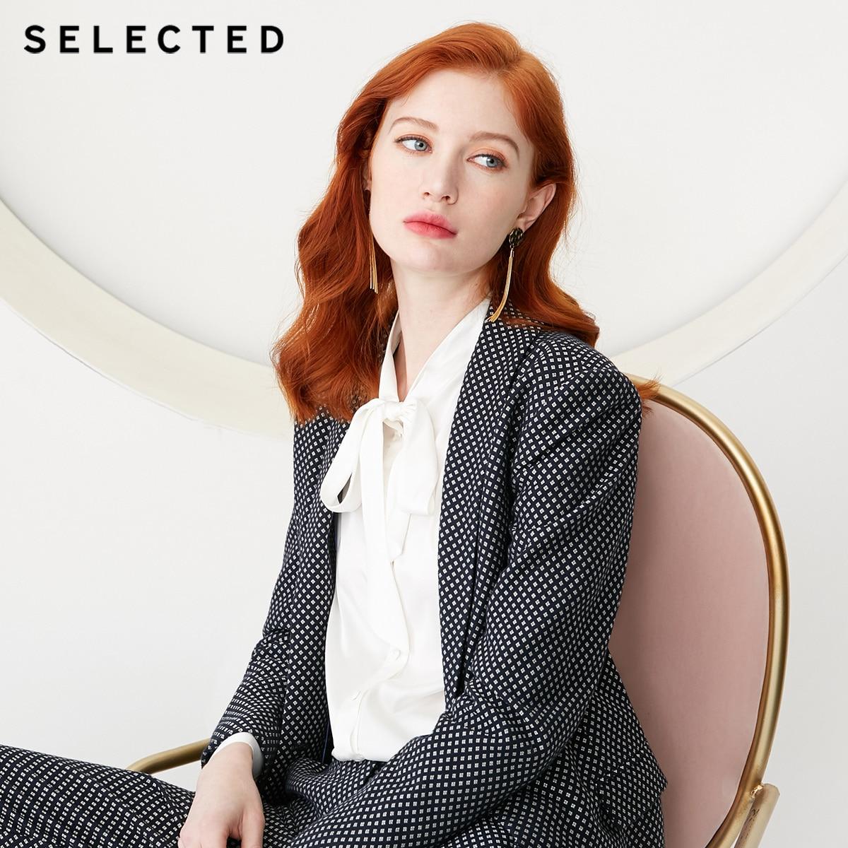 SELECTED Women's Regular Fit Weave Grain Suit Jacket S 419172510